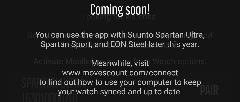 Suunto Spartan Ultra Titanium Black - App