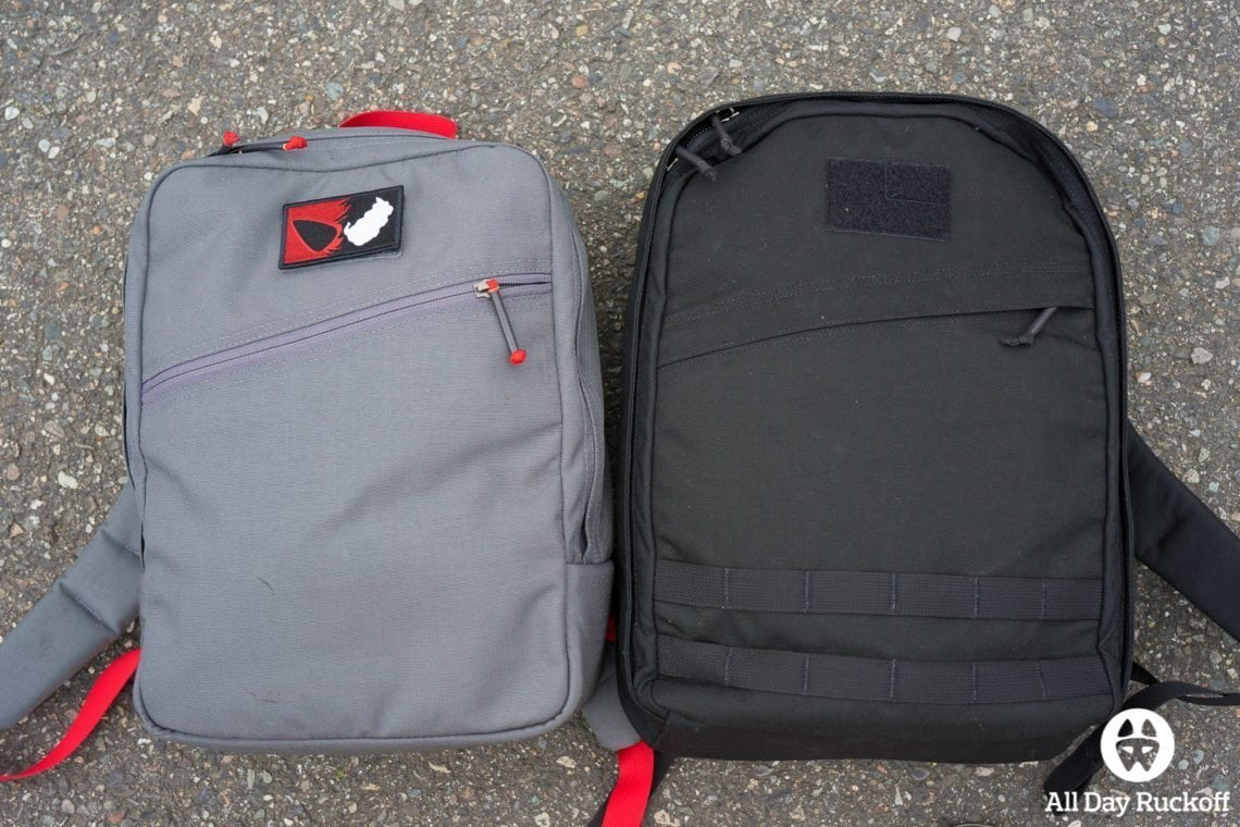 GORUCK Echo vs Kid Ruck Comparison (Front)