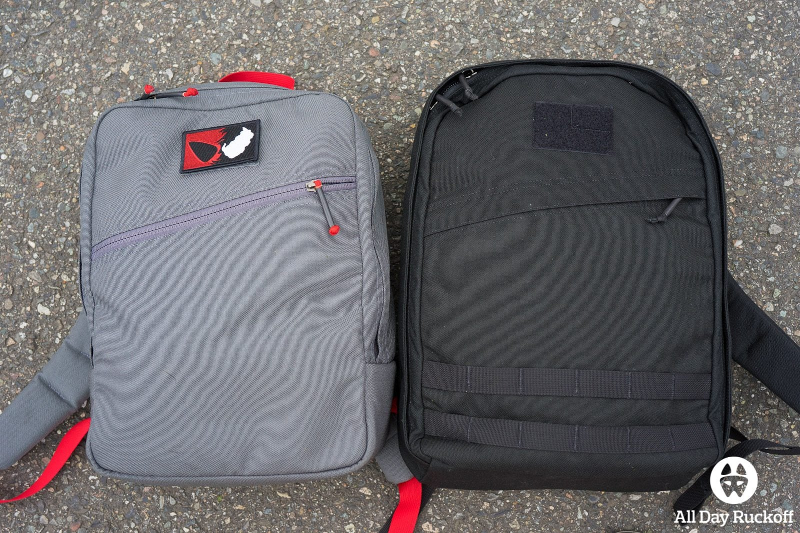 GORUCK Echo vs Kid Ruck Comparison (Front)