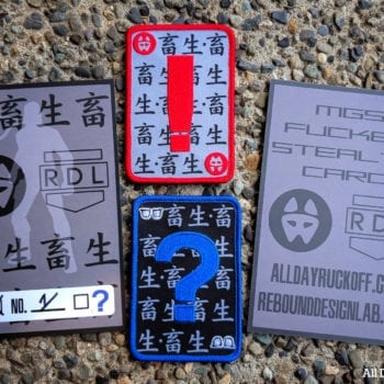 MGS Stealth Card Patch Set