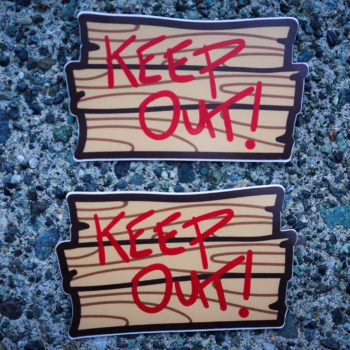 Keep Out! Patch + Magnet + Sticker Set