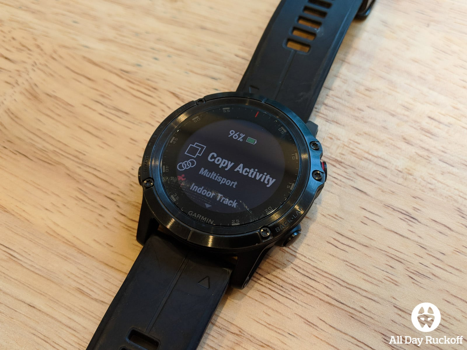 Setting up a Garmin Fenix for Rucking - All Day Ruckoff