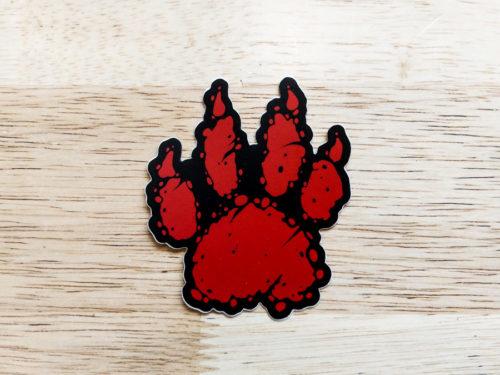Ruck Hound Paw Sticker