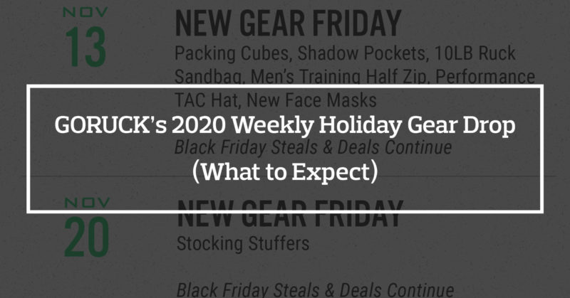 Current Previous Goruck Sales Archive All Day Ruckoff