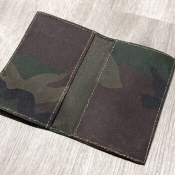 Army Duck Waxed Canvas Notebook Cover
