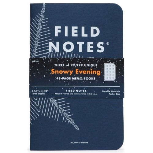 """Field Notes """"Snowy Evening"""" Limited Edition Notebooks"""