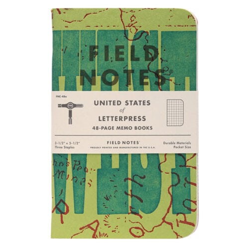 """Field Notes """"United States of Letterpress"""" Limited Edition Notebooks (Pack A)"""