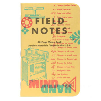 """Field Notes """"United States of Letterpress"""" Limited Edition Notebooks (Pack C)"""